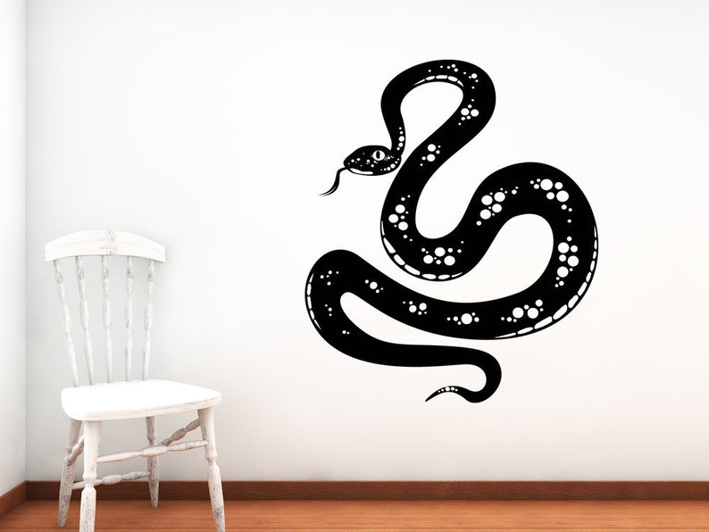 snake decal snake art reptile decor slitherin wall decal | etsy