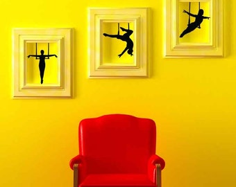 Trapeze, Artists, Performers, Circus, Carnival - Decal, Sticker, Vinyl, Wall, Home, Office Decor