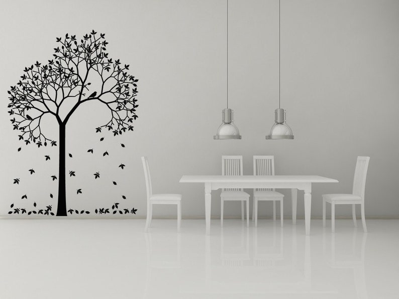 Tree Wall Decal Leaves Leaf Decor Branches Branch Fall Etsy