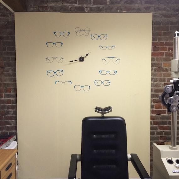 Okulary Okulary Naklejki Dekoracje Optometria Optyk Etsy
