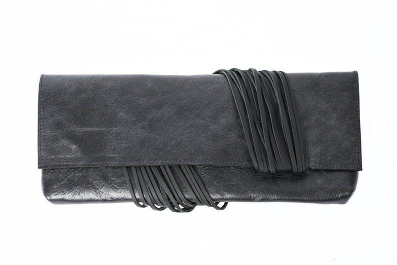 de068c6f748 Black leather clutch bag evening bag leather purse black | Etsy