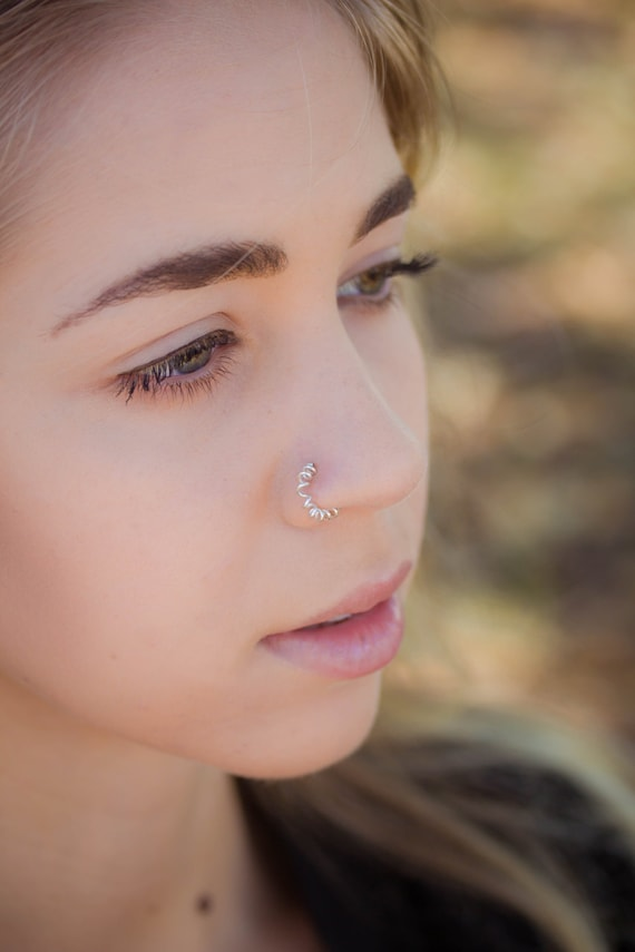 Sprial Nose Ring Twisted Nose Ring Faux Nose Ring Fake Etsy