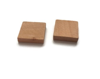 wooden square tiles etsy