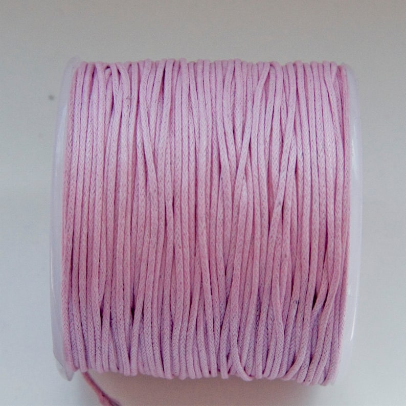 2pcs 10m Waxed Nylon String Rope Cord for Jewelry Making Craft 1mm Grey Pink