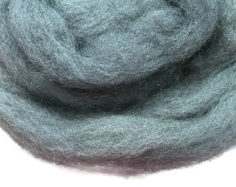 1.76 oz Grey Wool, Wool Roving, Wet Felting Wool Roving, Needle Felting Wool, Spinning Wool U 80 044