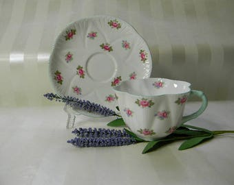 TEACUP, Vintage SHELLEY, Rosebud, Teacup