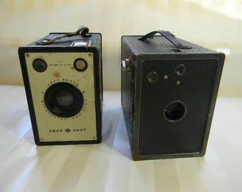 2 Vintage AGFA ANSCO Box Cameras