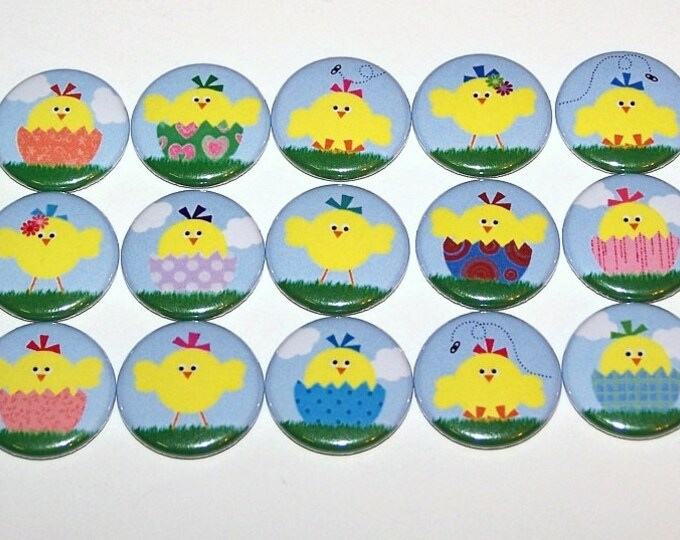 Easter Chick 1 Inch Pinback Buttons 1 Pins