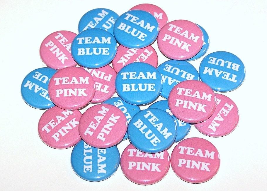 Gender Reveal pins Boy or Girl buttons he or she pins gender reveal button gender reveal ideas team pink team blue gender reveal