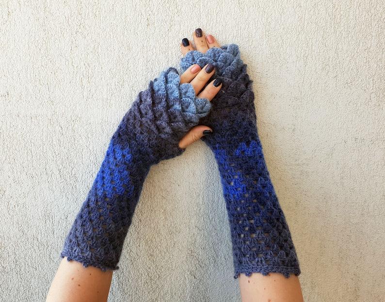 1a0c2242a Dragon Gloves Fingerless gloves Arm warmers Fingerless | Etsy