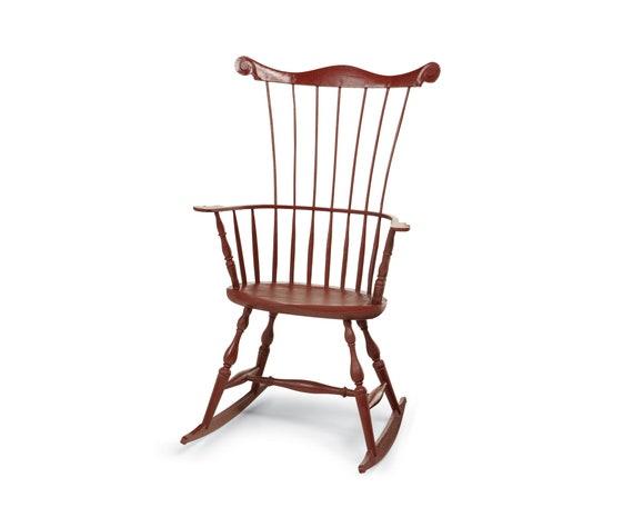 Terrific Comb Back Windsor Rocking Chair Inzonedesignstudio Interior Chair Design Inzonedesignstudiocom