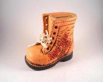 Vintage 70s Rainy Days Bank Savings Shoe