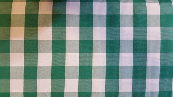 "Kelly Green Large 1"" Check 1"" Gingham Kelly Green 1"" Gingham Kelly Green Fabric Ffblgm by Etsy"