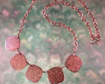 Oh the Places You'll Go Inscribed Copper Necklace