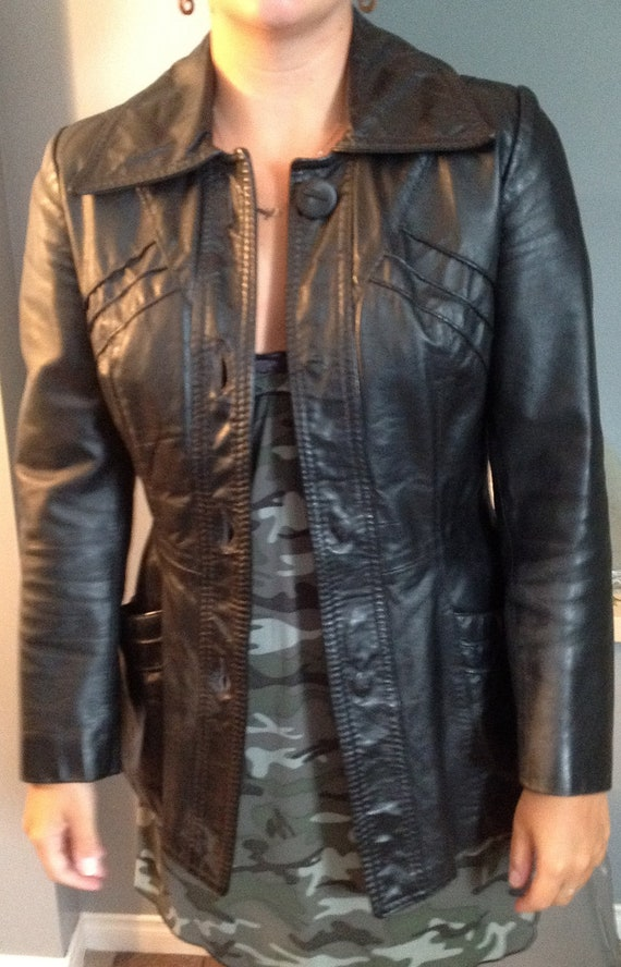 REAL TRUE Opera Vintage leather jacket xsmall  or