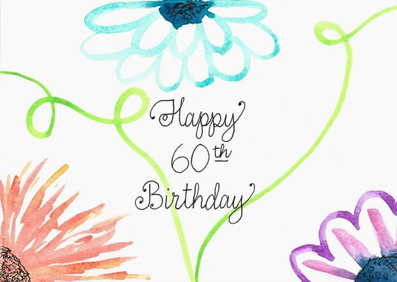 60th Birthday Card PERSONALIZED For FREE With A Name On Front
