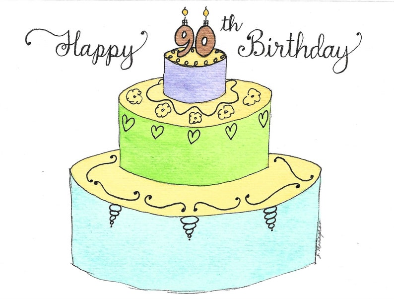 90th Birthday Card PERSONALIZED For FREE Mom Dad Sister