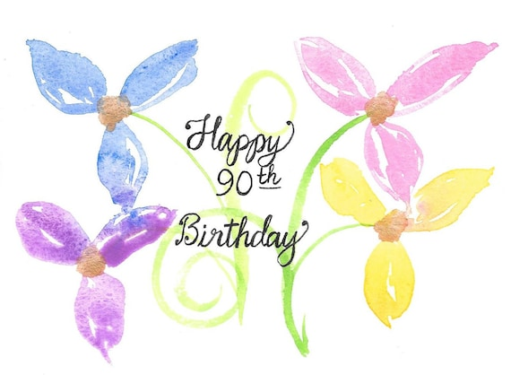 90th Birthday Card PERSONALIZED For FREE With A Name Original