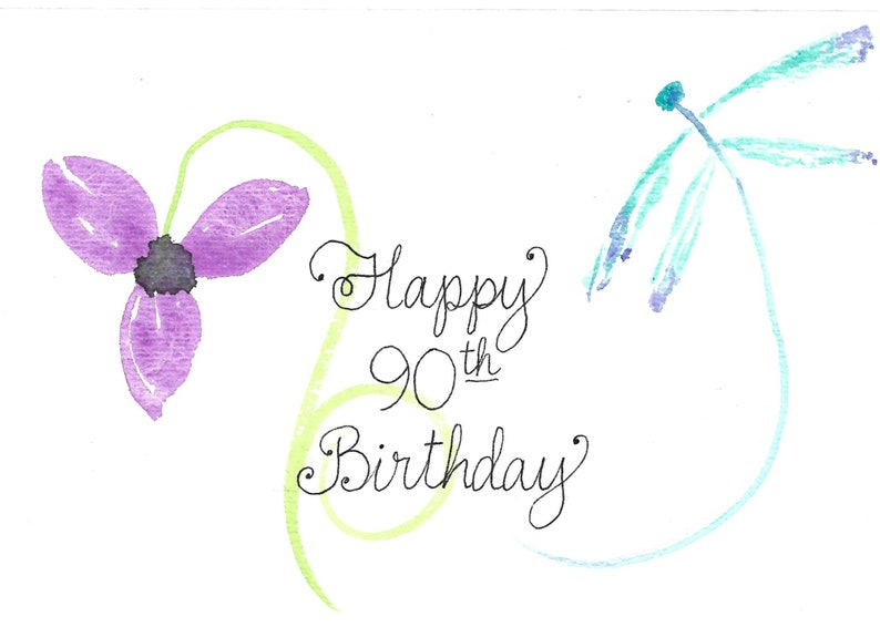 Happy 90th Birthday Card PERSONALIZED For FREE ANYONE