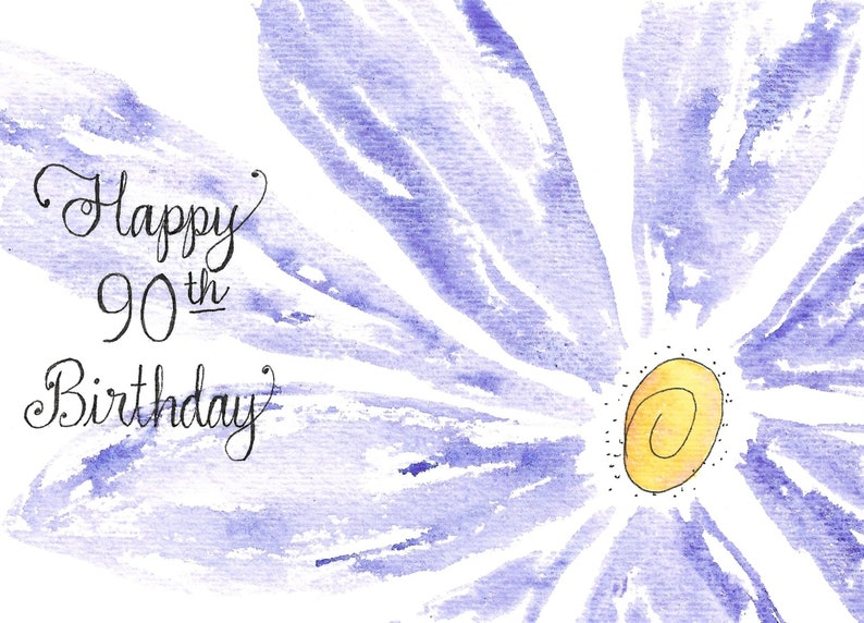 90th Birthday Card PERSONALIZED For FREE With A Name Mom