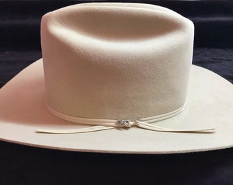 10a35bbd 1970s/1980s Stetson Silverbelly Rancher 4x beaver size 7 3/8