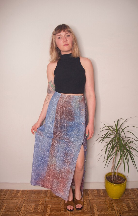 Vintage Clothing, 60s Sparkly Tie-Dye Skirt, Women