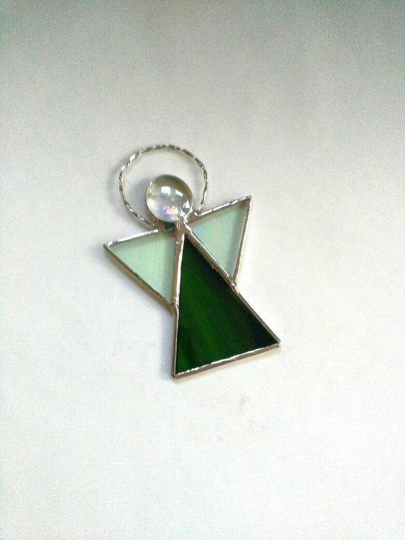 Stained Glass Angel Brooch or Pendant