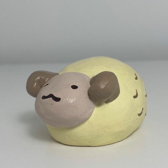 Handmade Fruits Basket Sheep figure
