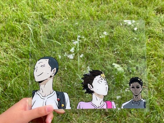 Tanaka, Nishinoya and Daichi glass painting