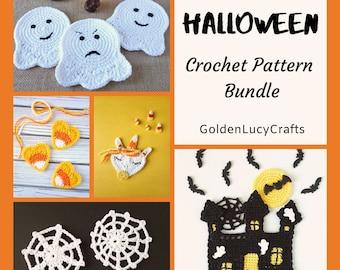 CROCHET PATTERN PACK #2 Halloween Applique Motif Embellishment