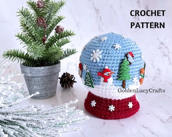 CROCHET PATTERN Snow Globe Amigurumi Toy Christmas
