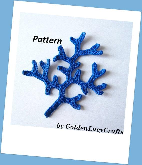 Coral Branch Crochet Pattern Etsy