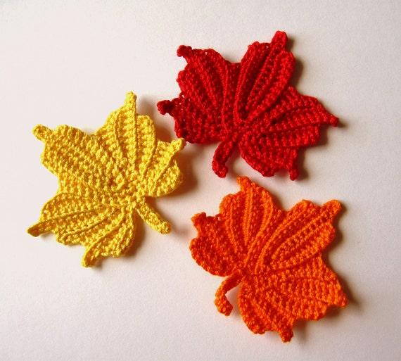 Small Maple Leaves Crochet Pattern Etsy