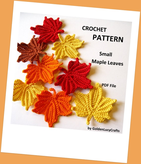 Small Maple Leaves Crochet Pattern Etsy Simple Maple Leaf Pattern