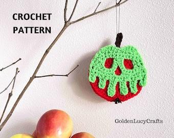 CROCHET PATTERN Poison Apple Ornament Halloween Poisoned Apple