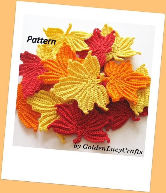 Maple Leaves Crochet Pattern Etsy