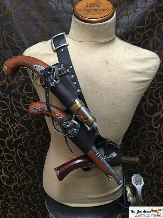 Pirate Baldric Holster Kit For 3 Flintlock Pistol With Etsy