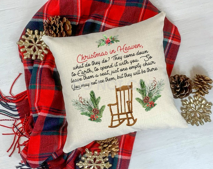Featured listing image: Christmas In Heaven Throw Pillow Cover