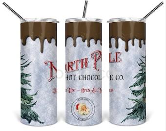 North Pole Hot Chocolate 20oz Skinny Tumbler