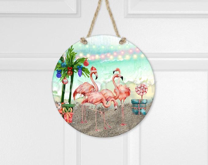 Featured listing image: Flamingo Holiday Door Hanger