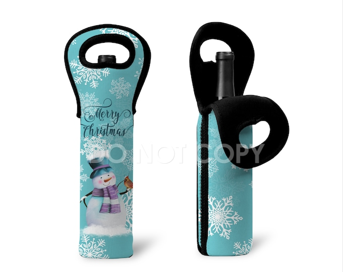 Featured listing image: Snowman Neoprene Bottle Tote