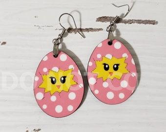 Chick Egg Earrings