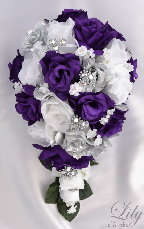 Wedding Flowers Wedding Bouquet Silk Flower Bouquet Etsy