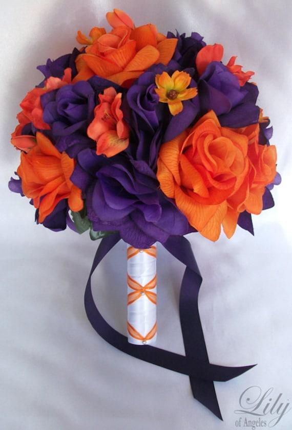 Wedding Bouquet Bridal Bouquet Bridesmaid Bouquet Silk Etsy