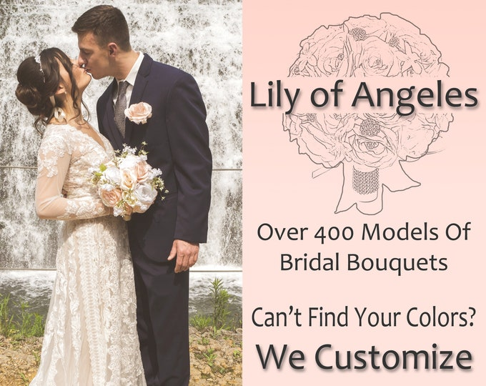 Wedding Bouquet, Wedding Flower, Bridal Bouquet, Silk Flower Bouquet, Wedding Bouquet Set, Wedding Flower Package +400 Colors To Choose From