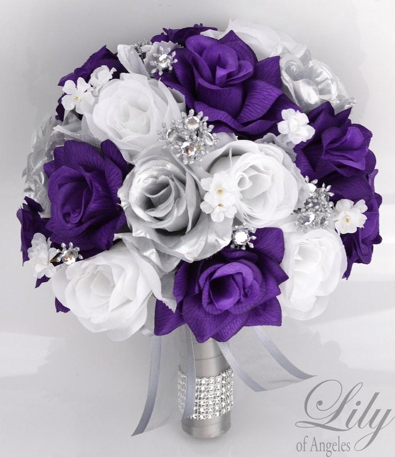 Wedding Bouquet Bridal Bouquet Bridesmaid Bouquet Silk image 0