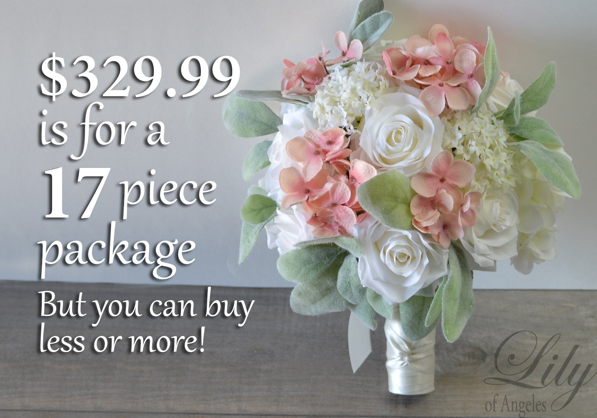 Pin corsage-Coral roses with white hydrangea accents Color can be changed Coral ribbon bow
