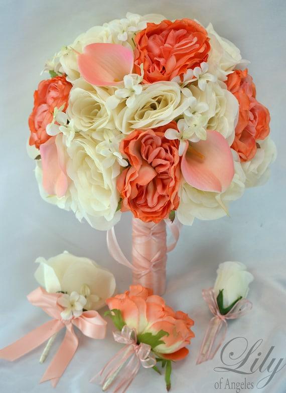 Wedding Bouquet Wedding Flowers Silk Flower Bouquet Etsy