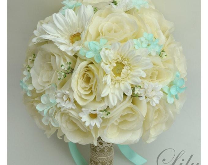 Wedding Bouquet, Bridal Bouquet, Bridesmaid Bouquet, Silk Flower Bouquet, Wedding Flowers, 17 Piece Set, Pool, Spa, Rustic, Lily of Angeles