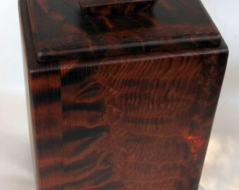 Redwood Container, Cremation Urn, Reclaimed wood box,   #1091-A